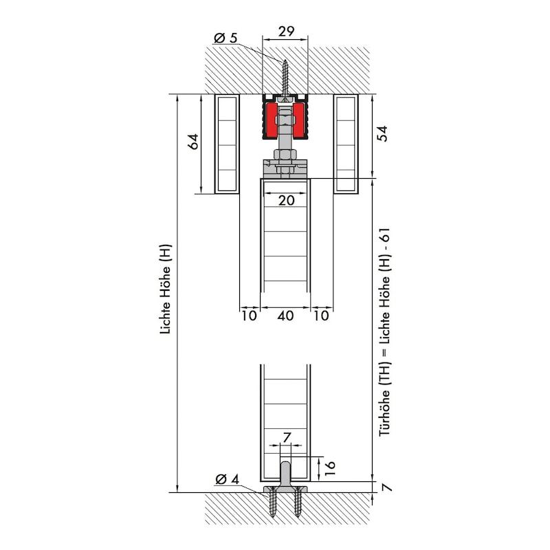 Zimmerschiebetürbeschlag Redoslide Z45-H - 2