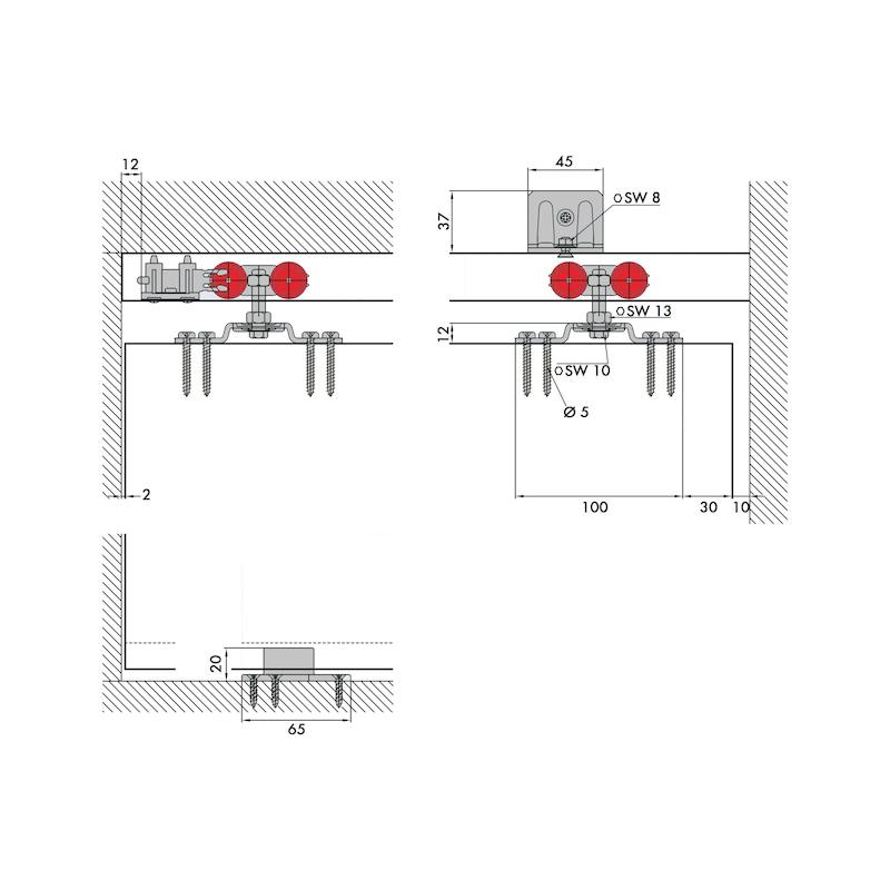 Zimmerschiebetürbeschlag Redoslide Z45-H - 0