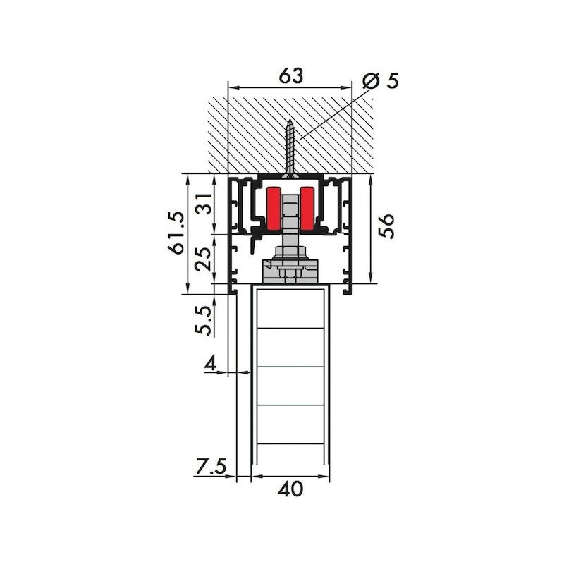 Zimmerschiebetürbeschlag REDOSLIDE Z60-H/Z60-HW - 2