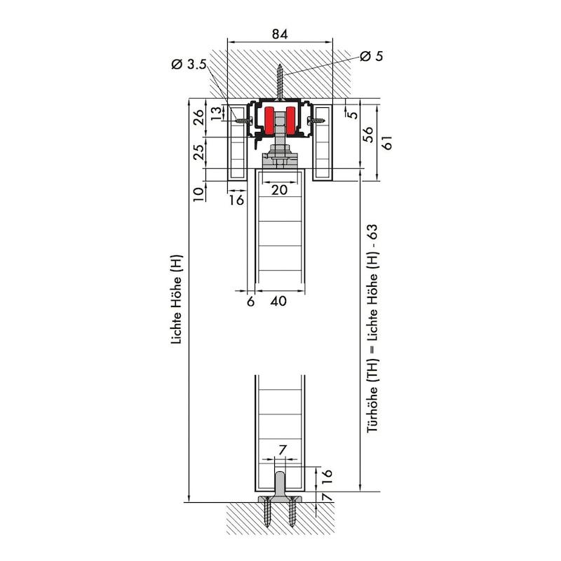 Zimmerschiebetürbeschlag REDOSLIDE Z100-H/Z100-HW - 3