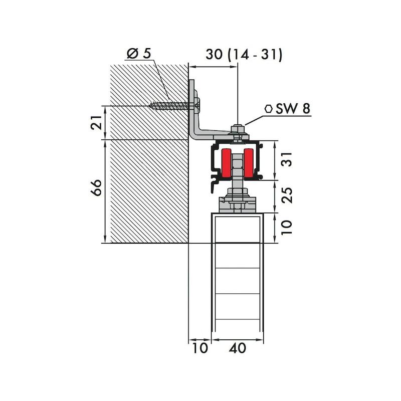 Zimmerschiebetürbeschlag REDOSLIDE Z60-H/Z60-HW - 6