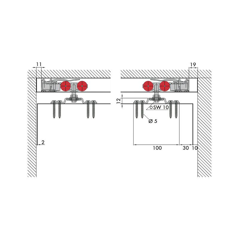 Zimmerschiebetürbeschlag REDOSLIDE Z60-H/Z60-HW - 7