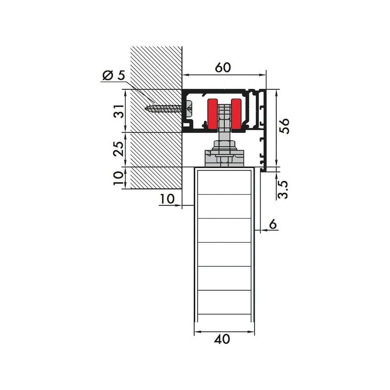 Zimmerschiebetürbeschlag REDOSLIDE Z60-H/Z60-HW - 4