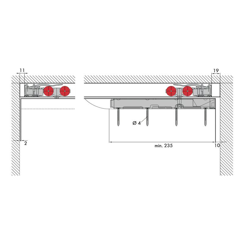 Zimmerschiebetürbeschlag Redoslide Z 60-HNW - 4
