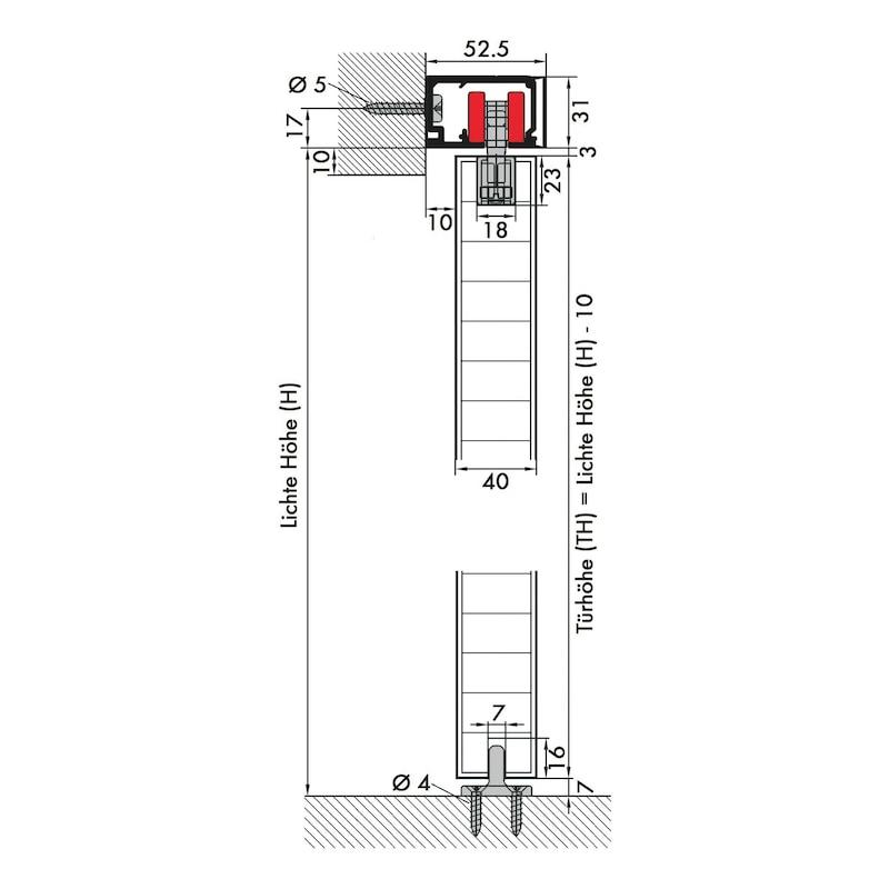 Zimmerschiebetürbeschlag Redoslide Z 60-HNW - 7