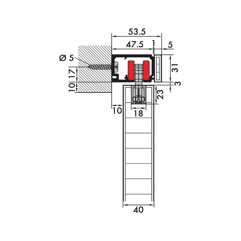Zimmerschiebetürbeschlag Redoslide Z 60-HNW - 8