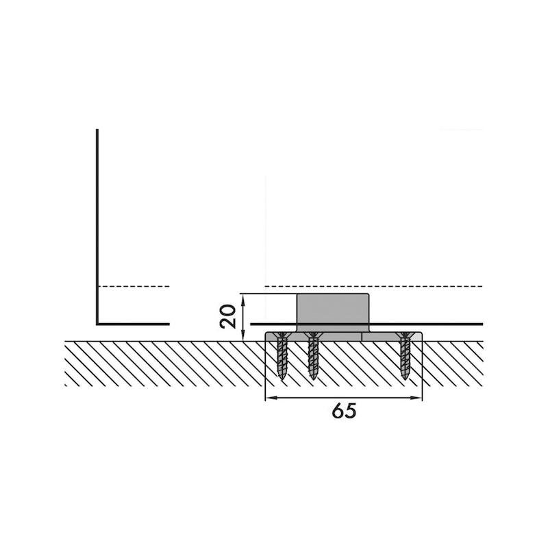 Zimmerschiebetürbeschlag Redoslide Z 60-HNW - 9