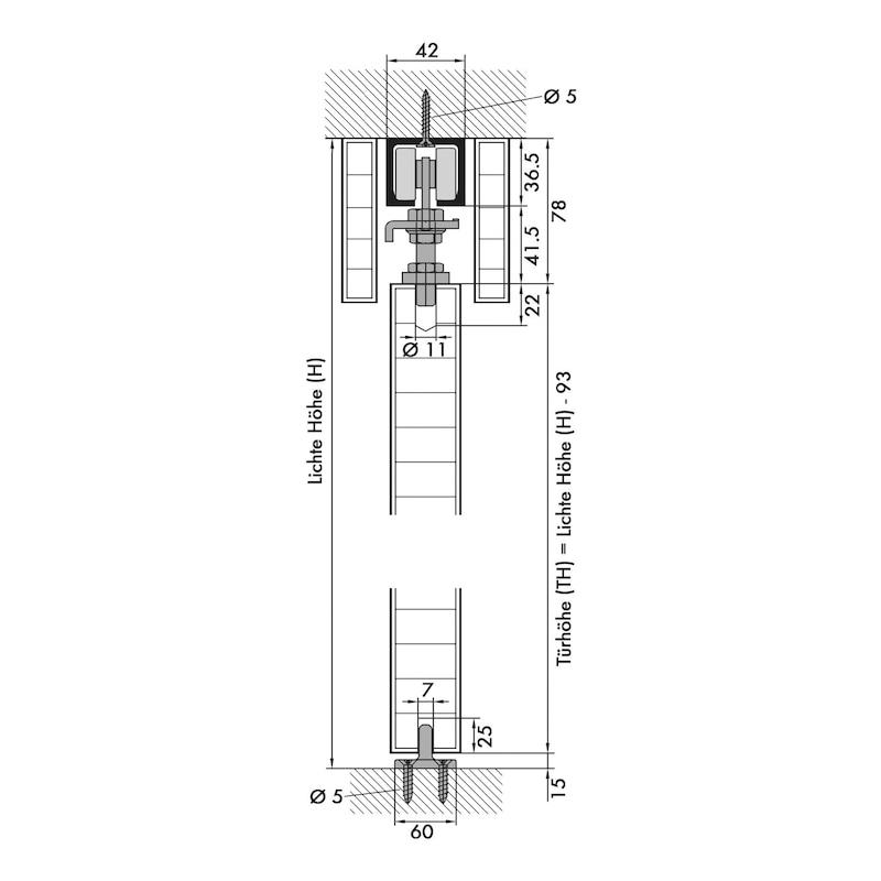 Zimmerschiebetürbeschlag REDOSLIDE Z300-H - 2