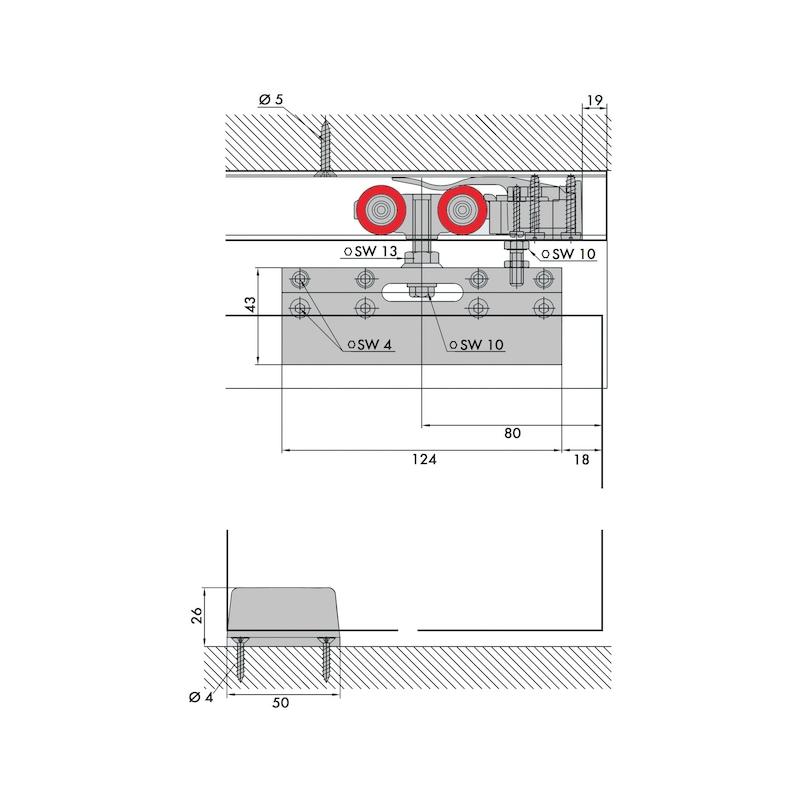 Zimmerschiebetürbeschlag REDOSLIDE Z100-G - 3