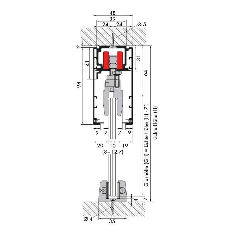 Zimmerschiebetürbeschlag REDOSLIDE Z100-G - 5