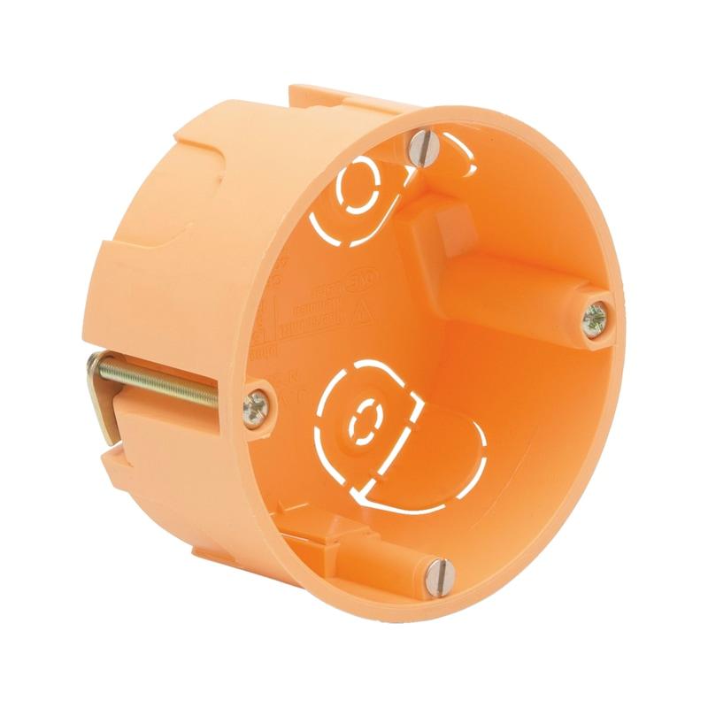Cavity wall device box, flat shape