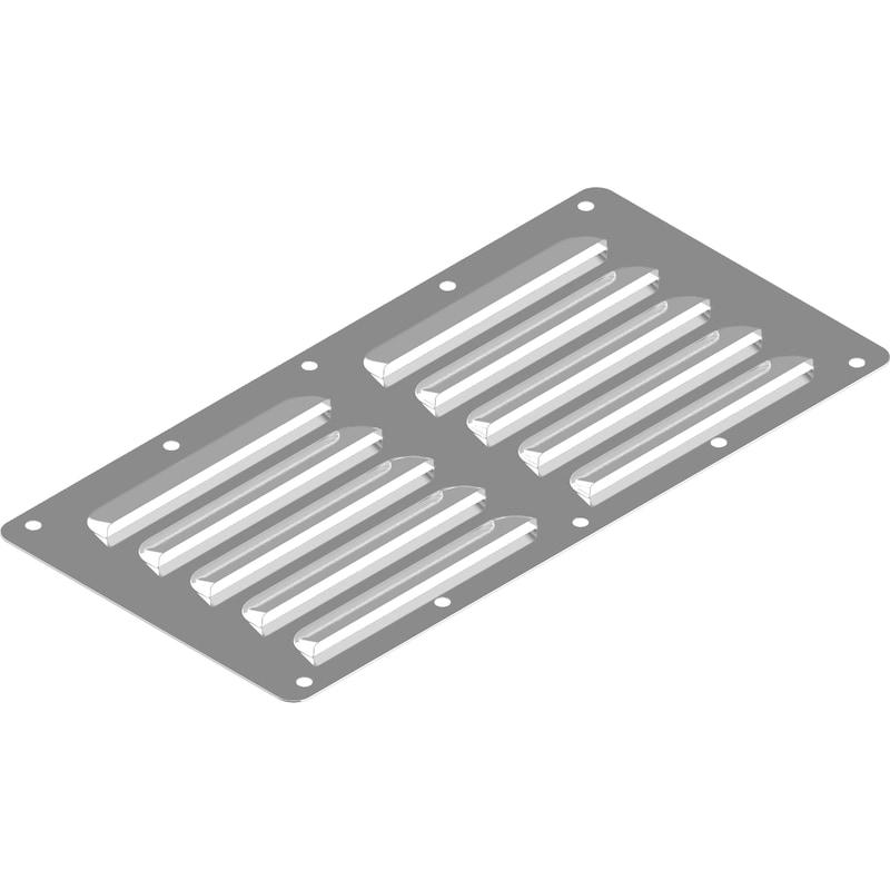Grille de ventilation acier inoxydable A2, type C - 1
