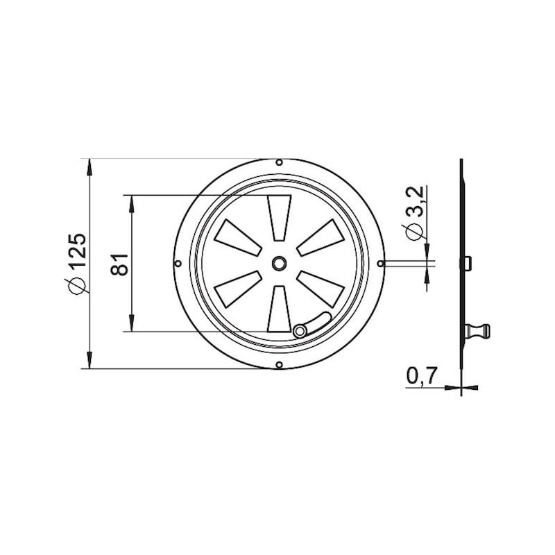 Grille de ventilation, acier inoxydable A2 - 2