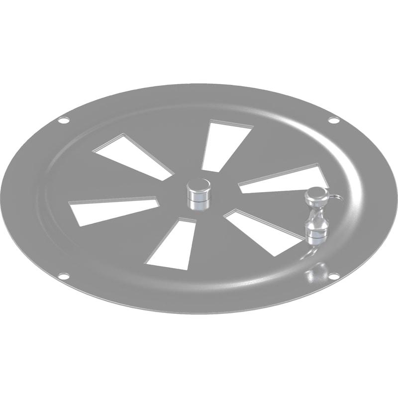 Grille de ventilation, acier inoxydable A2 - 1