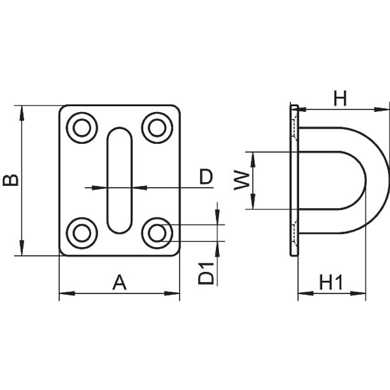Pontet sur platine carrée - 2