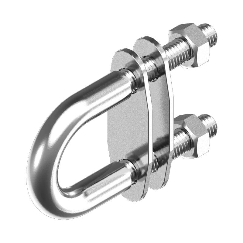 Boulon enU en acier avec contre-plaques