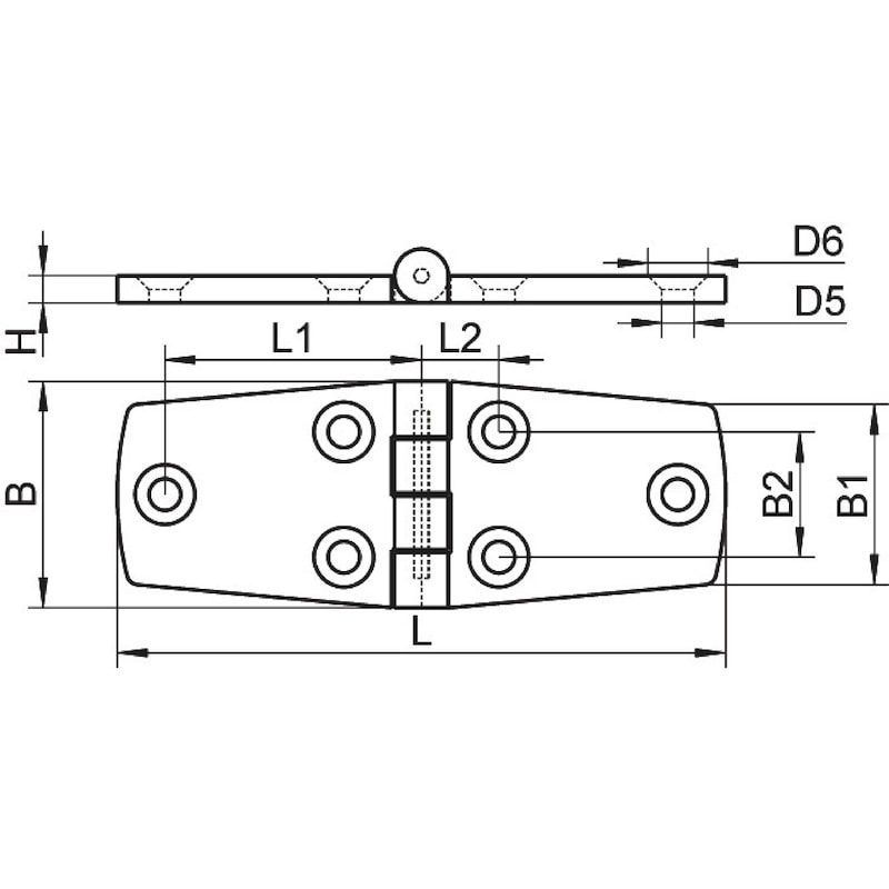 Charnière escamotable conique acier inoxydable A4 - 2