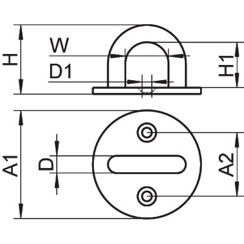 Oogplaat, rond - 2