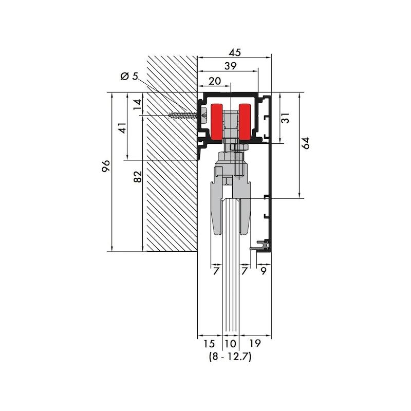 Zimmerschiebetürbeschlag REDOSLIDE Z100-G - 6
