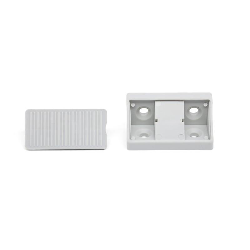 Eckverbinder mit Deckel - ECKVERB-MOEBLBAU-KST-DECKEL-R7035-LGRAU