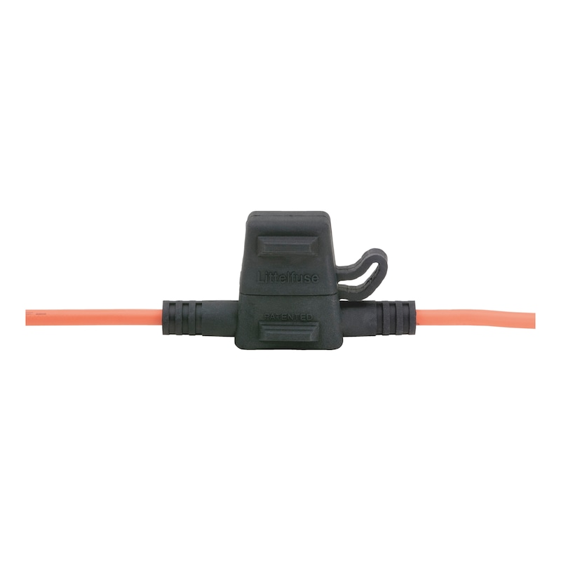 Fuse holder for flat blade fuses ATO - FLBLDEFSEHOLD-MINI-W.COVER-MAX30A