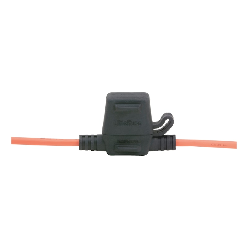 Fuse holder for flat blade fuses ATO - FLBLDEFSEHOLD-ATO-W.COVER-MAX30A