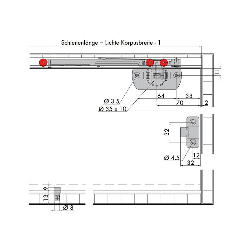 Schiebetürbeschlag-Set redoslide M15-HE - 7