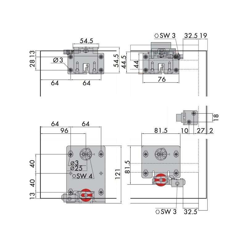 Möbelschiebetürbeschlag-Set redoslide M45-HV - 4