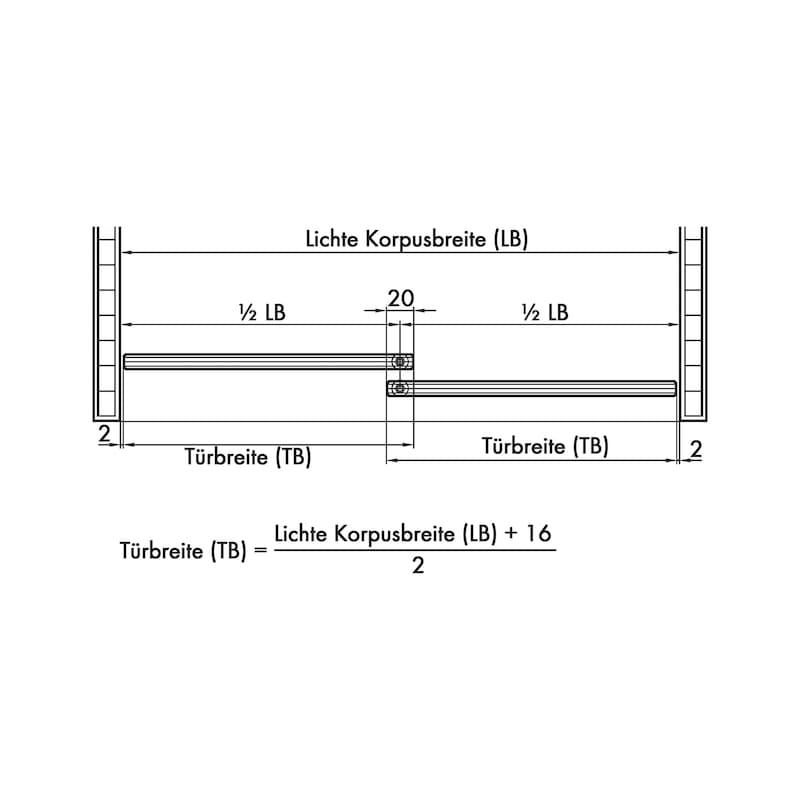 Möbelschiebetürbeschlag-Set redoslide M15-GE - 4