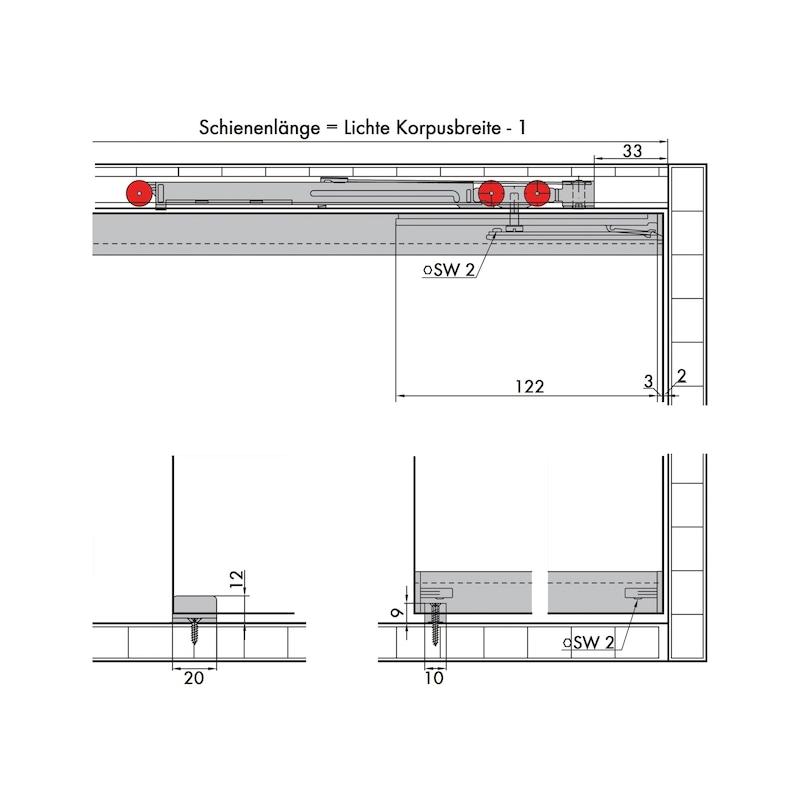 Möbelschiebetürbeschlag-Set redoslide M15-GE - 3