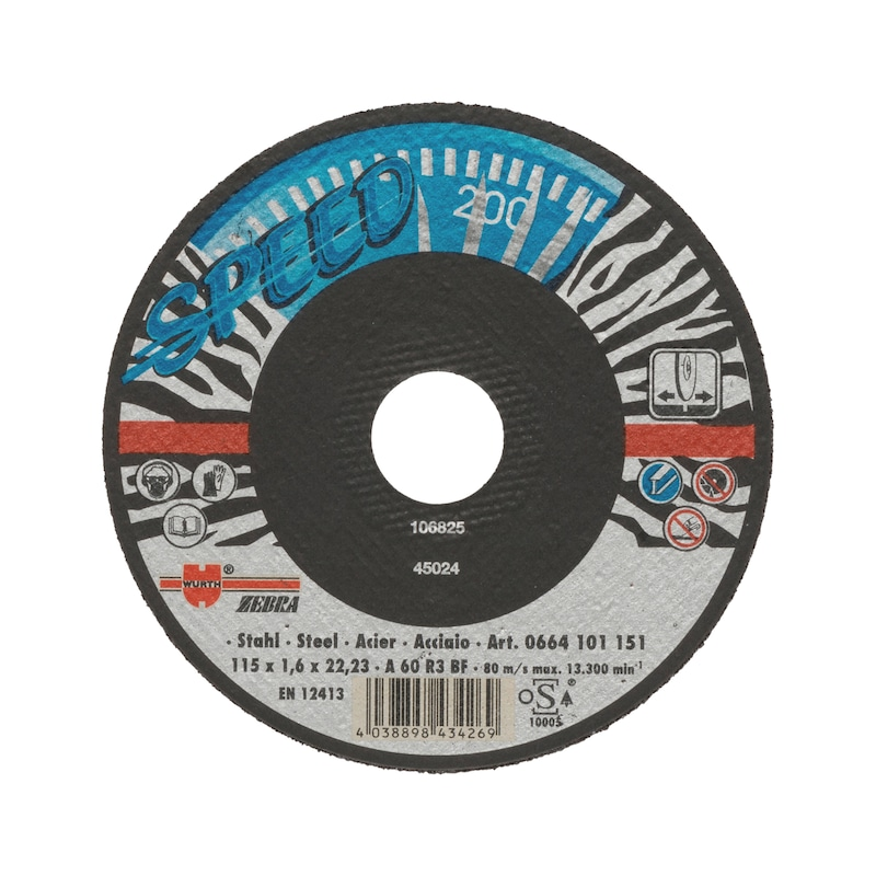 Speed cutting disc for steel - CUTDISC-SP-BLUE-ST-SR-TH2,0-BR22,2-D230
