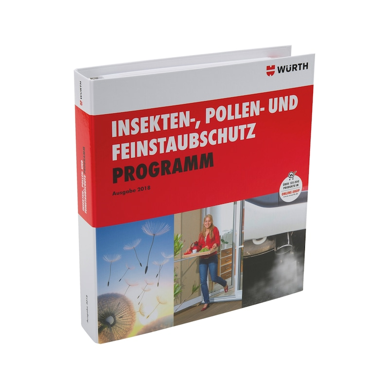 Folder with insect, pollen and fine dust protection range  2018 edition