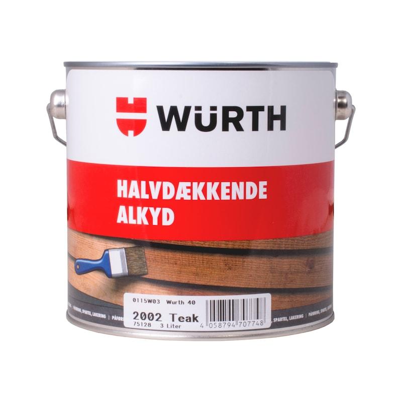 Halvdækkende Alkyd - WÜRTH 40 HALVDÆKKENDE, SORT 3 L