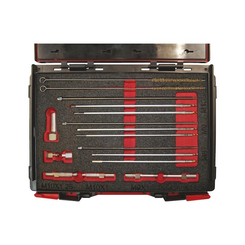 Kit de perçage pour crayons de bougie de préchauffage endommagées M8x1,0 - M9x1,0 - M10x1,0 - M10x1,25 - 7