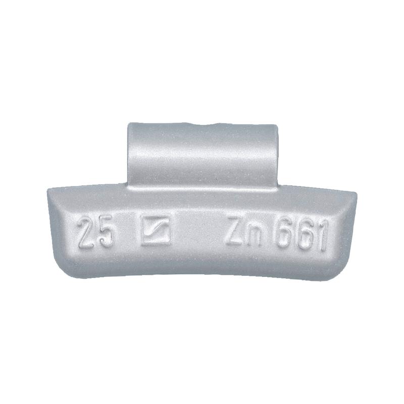 Masse d'équilibrage en zinc Type 63-Z - MASSE SP FORME 3 - JANTE ALU - 35G