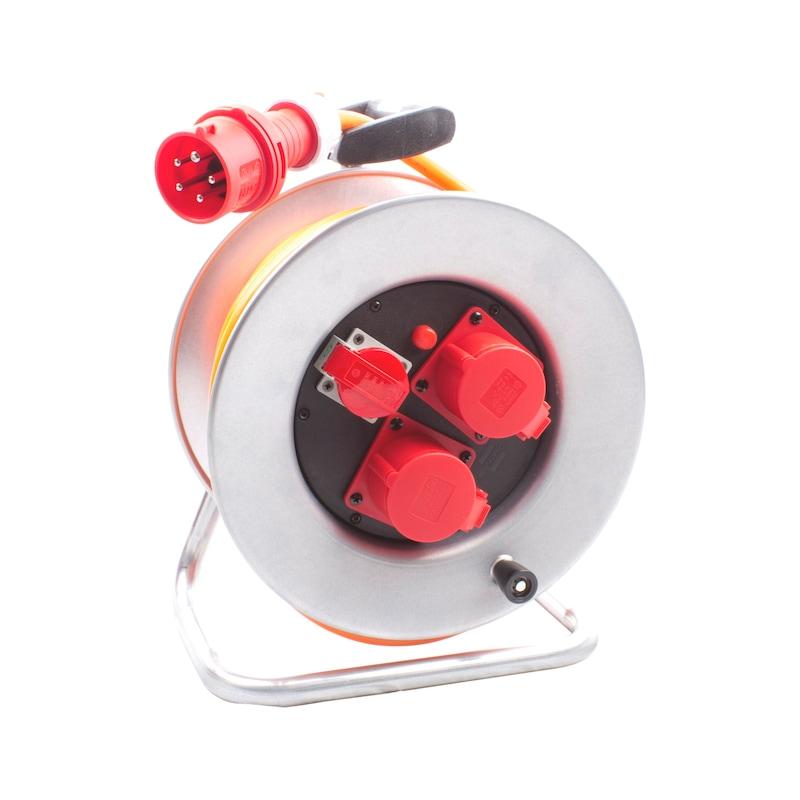 Avvolgicavo in lamiera di acciaio  CEE/5, 400 V, conforme a IP44  - 1