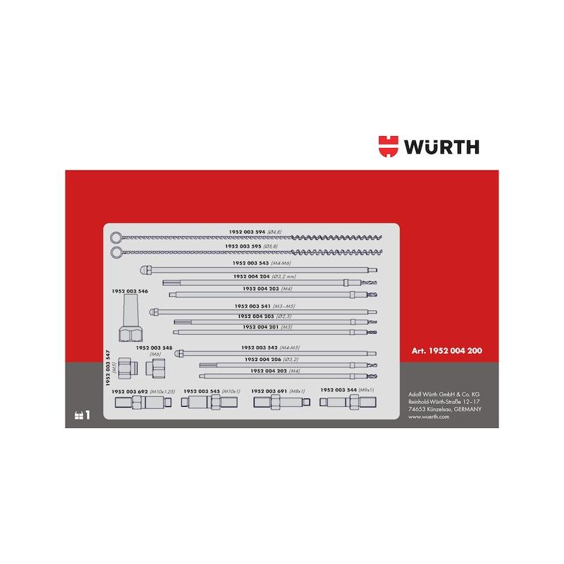 Kit de perçage pour crayons de bougie de préchauffage endommagées M8x1,0 - M9x1,0 - M10x1,0 - M10x1,25 - 9
