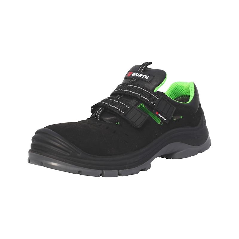 Bezpečnostné sandále, S1P - BEZPECTNOSTNE SANDALE S1P CIER/ZEL 38