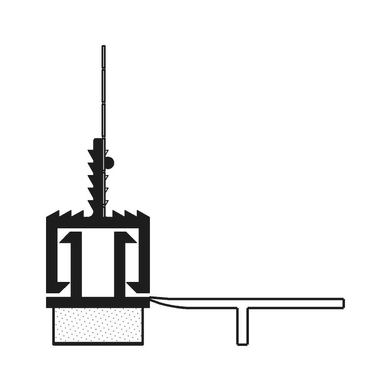 Anputzdichtleiste Teleskop mit Gewebe - 2