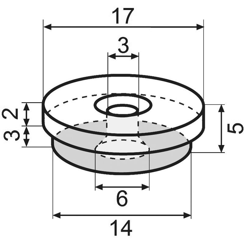 Möbelgleiter Basis-Modul SLIM - 2