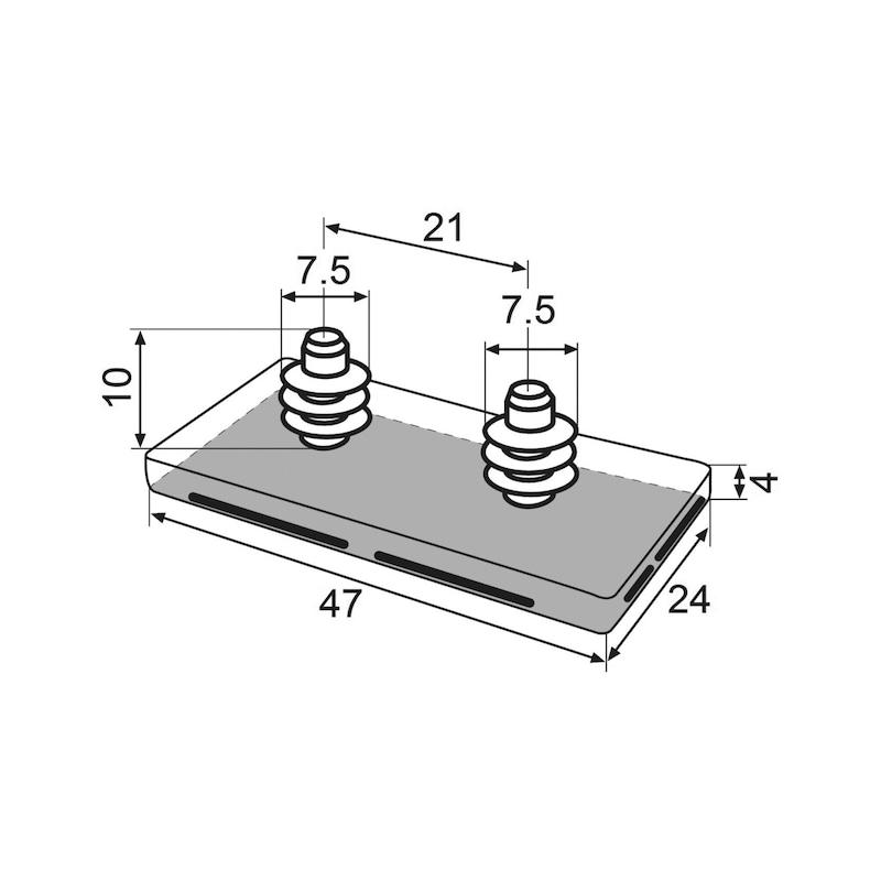 Möbelgleiter Basis-Modul + HYPER-Gleiter - 3