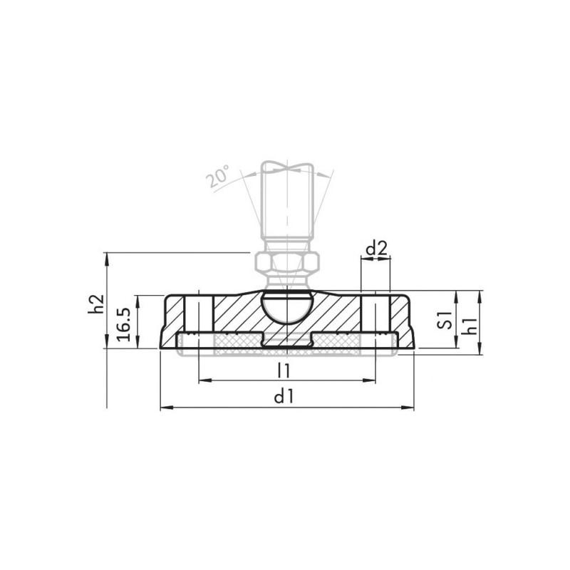 Teller Kunststoff anschraubbar - TE-STLFU-KST-ANSHRB-D100