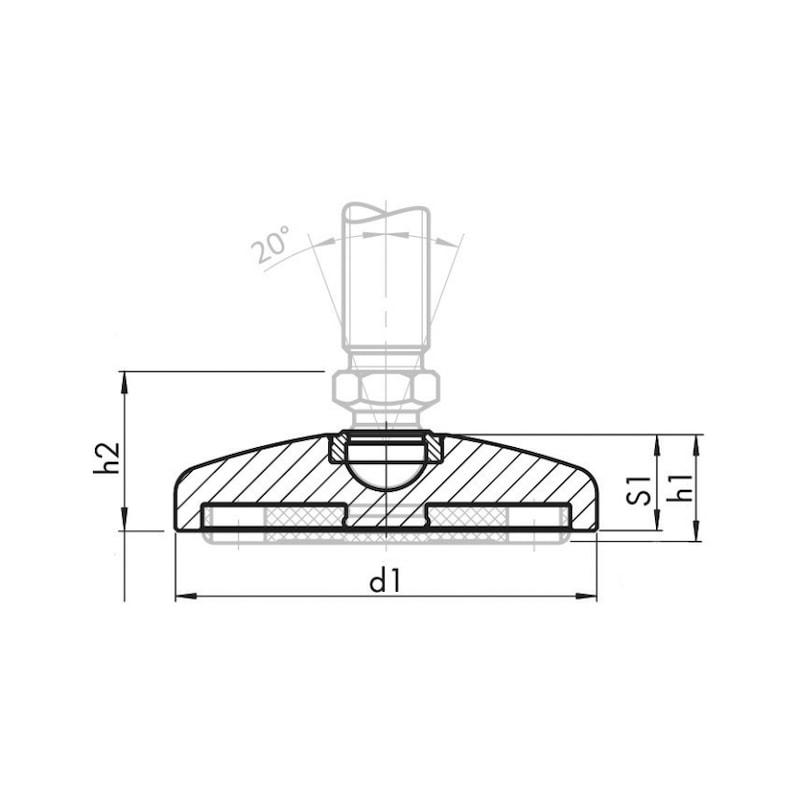 Teller Zinkdruckguss mit Antirutschplatte - 2