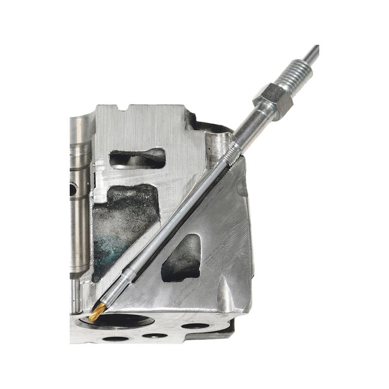 Kit de perçage pour crayons de bougie de préchauffage endommagées M8x1,0 - M9x1,0 - M10x1,0 - M10x1,25 - 3