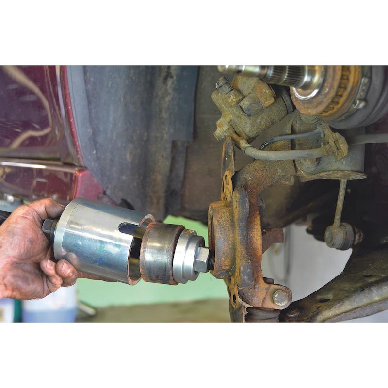 Conjunto ferramenta p/ rolamento roda univ, 38 pçs - KIT SACA ROLAMENTOS