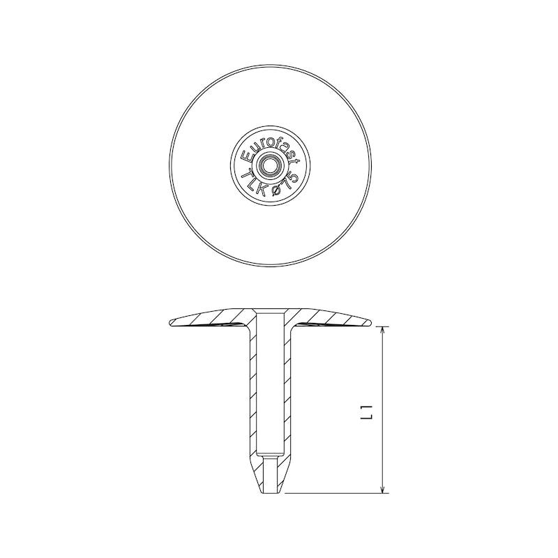 Kunststoff-Halteteller EUROFAST® TLK 75 - 2