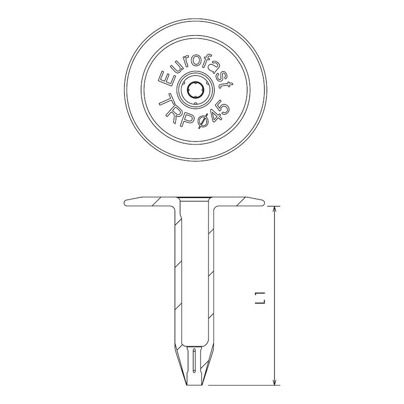 Kunststoff-Halteteller EUROFAST® TLK 45 - 2