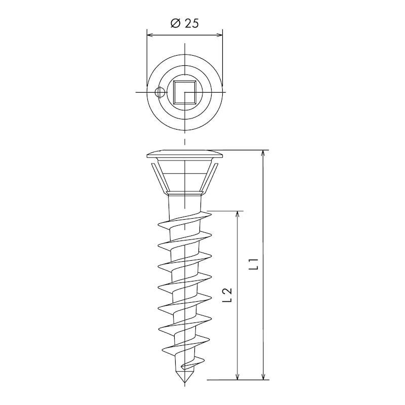 Leichtbaubefestiger OMG® DVP-GDL (Gyp Tec) - 2