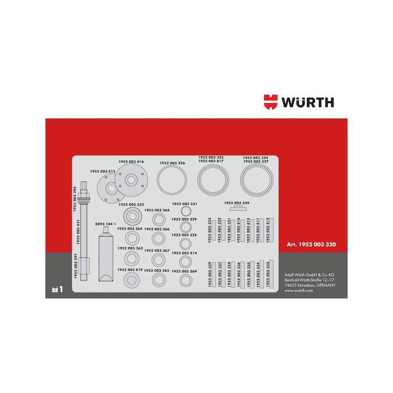 Kit d'extraction de roulement de roue - 7