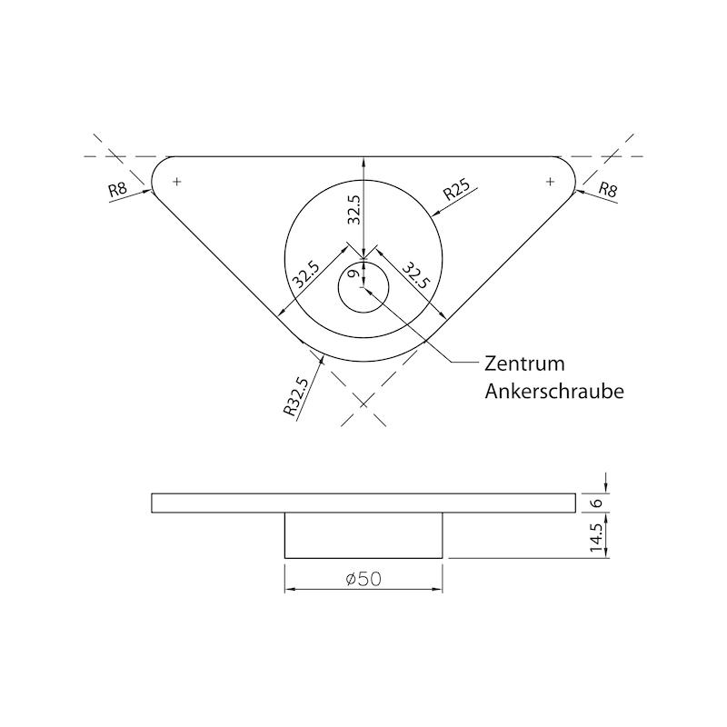 Tischbeinverbinder 50 - 2